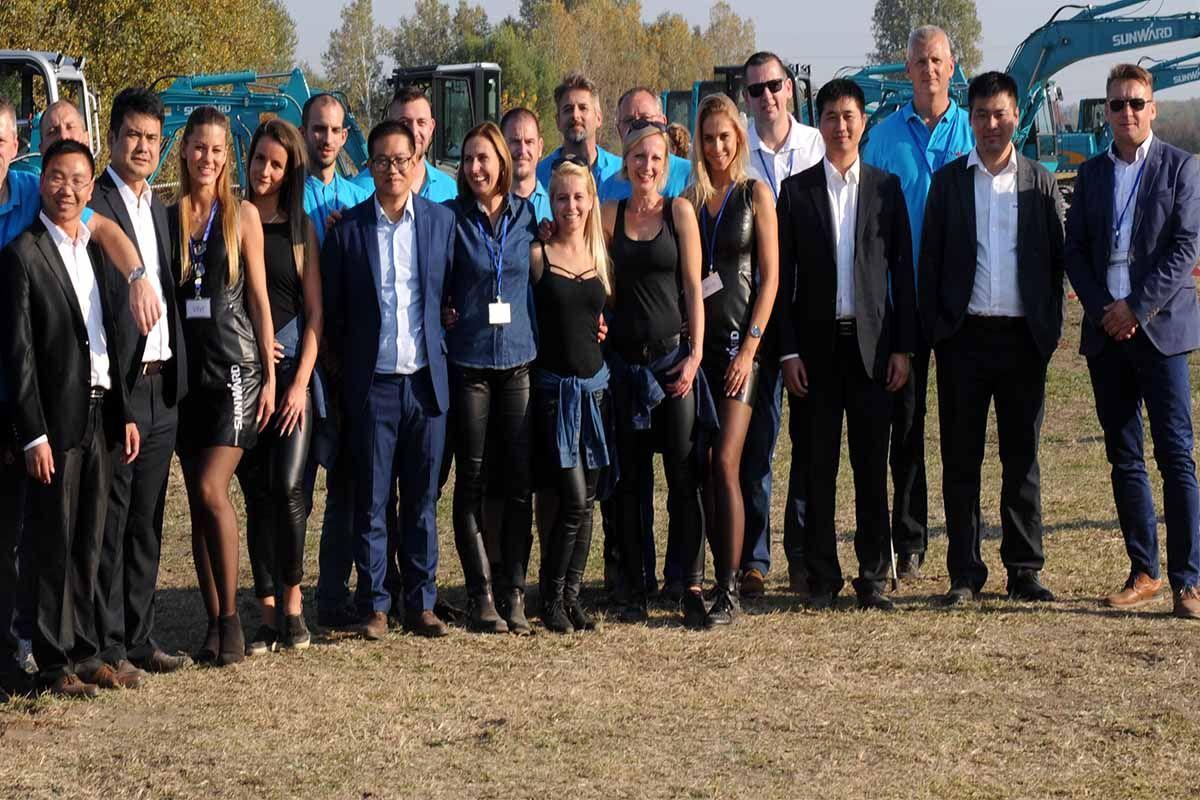 A legjobb Sunward Európai forgalmazó csapat 2018-ban.